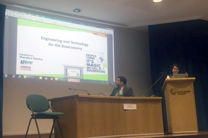 Greek Bioeconomy Forum organized a conference in Thessaloniki, Greece. Theodora Retsina, CEO API Europe, gave a presentation of the company