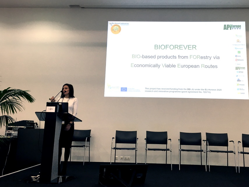 Stamatina Sideri, Business Development Manager of API Europe gave a presentation of the BBI JU BIOFOREVER project at the European Summit of Industrial Biotechnology